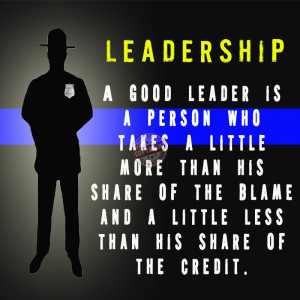 Police Leadership Motivational Quotes
