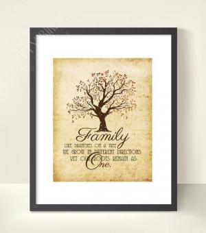 Family Quote Printable Home Decor