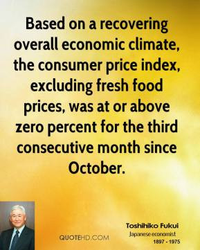 ... fresh food prices, was at or above zero percent for the third
