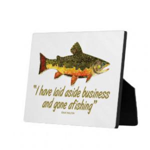 Izaak Walton Fishing Quote Display Plaque