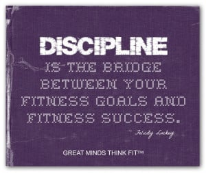 Purple Fitness Discipline Poster