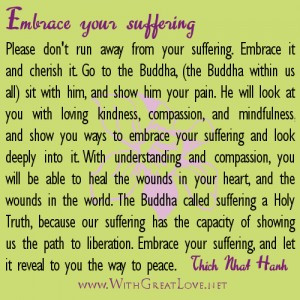 Healing quotes – Embrace your suffering