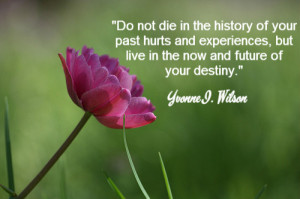 Do not die in the history of your past hurts and experiences, but ...