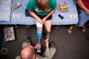 Provo High senior receives new prosthetic leg from Shriners