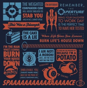 Portal quotes t-shirt makes the perfect gift