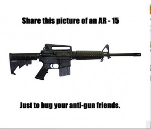 Anti gun friends is an oxymoron.