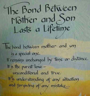 The bond between mother and son is special one. It remains unchanged ...
