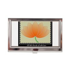 Lotus Beauty Quote Business Card Case for