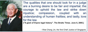 ... judges i will post one of his quotes for the pro death penalty quote