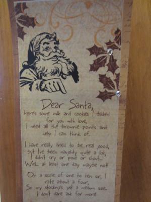 Dear Santa Quotes Cute This dear santa half page