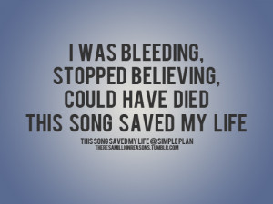 ... include: simple plan, this song saved my life, band, life and quote