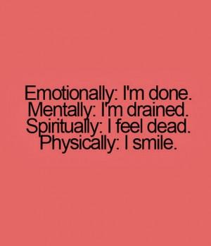 emotionally i m done mentally i m drained