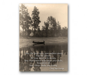 SYMPATHY CARD - Native American Inspirational Quote - Edward Curtis ...