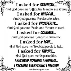 religious quotes about strength and faith
