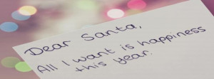 Christmas Happiness Quotes Santa This Facebook Covers