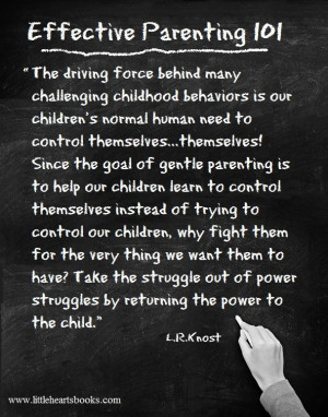 ... struggle out of power struggles with your child by returning the power