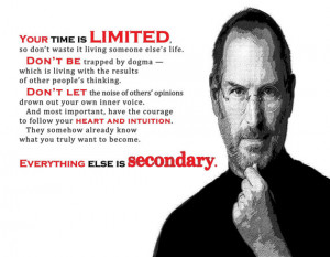 ... Quotes Print - Apple Founder Steve Jobs Quotes-Print 8 x 10