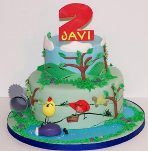 Two+tier+round+bird-theme+birthday+cake+for+2-year-old.JPG