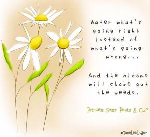 Bloom quote and illustration via www.Facebook.com/PrincessSassyPantsCo