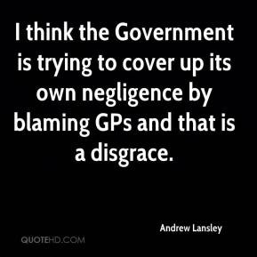Andrew Lansley - I think the Government is trying to cover up its own ...