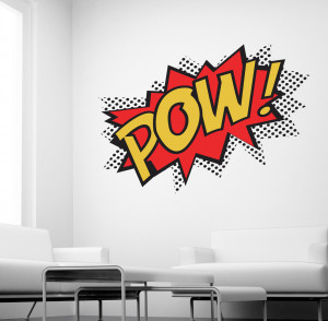 Details about POW WALL STICKER SUPERHERO KIDS COMIC ART DECALS K27