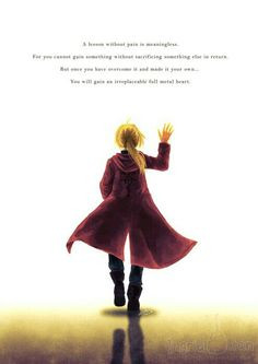 ... it your own you will gain an irreplaceable full metal heart fma quote
