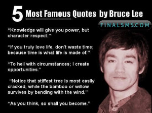 Most Famous Quotes By Bruce Lee