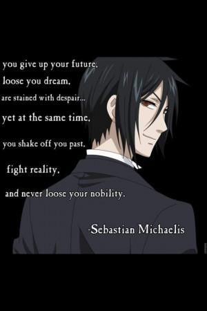 sebastian from black butler quote