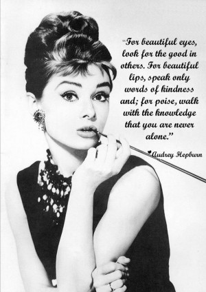 Audrey Hepburn - beauty tips