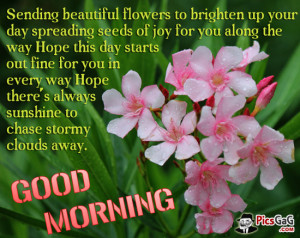 Flowers Good Morning Quote and Morning SMS For Happy Morning.