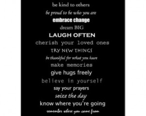 Inspiration - Life Rules - 8x10 Pri nt - Inspirational Quotes, Rules ...