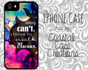 Unicorn Quote Galaxy Apple iPhone 4 4G 4S 5G Hard Plastic Cell Phone ...