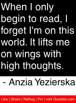 ... me on wings with high thoughts anzia yezierska # quotes # quotations