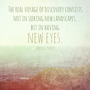 The real Voyage of Discovery consists...