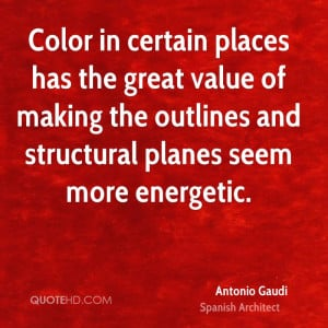 Color in certain places has the great value of making the outlines and ...