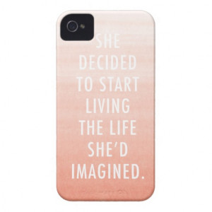Ombre Quote iPhone 4/4S Case