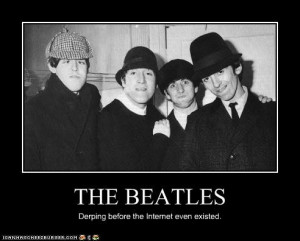 The Beatles Derping Funny by BeatlesBug