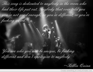 Kellin Quinn Quote