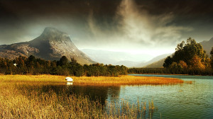 Lost Mountain by the Lake, beauty, blue, breeze, cool, lovely, warm ...