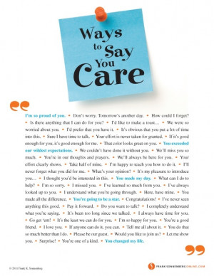 Ways to Say You Care.