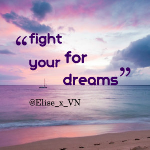 fight for your dreams quotes from elise van nylen published at 07 ...