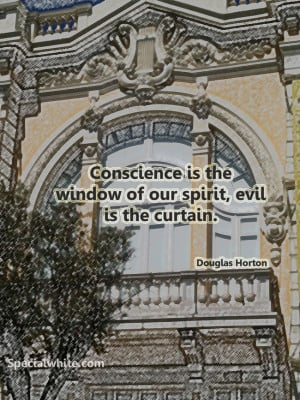 Conscience is the window of our spirit, evil is the curtain | Words ...