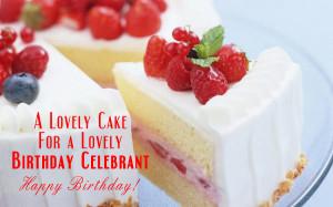 lovely cake for a lovely birthday celebrant happy birthday
