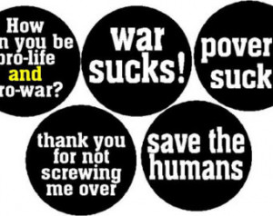 Set of 5 Political Government Anti War Quotes Sayings Poverty Life ...