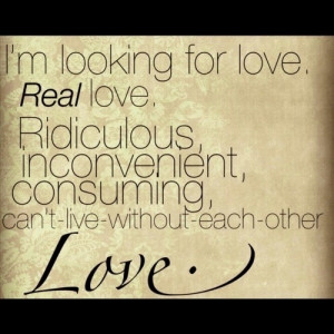 looking for love...