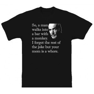 Celebrity Jeopardy Sean Connery Quote Funny T Shirt