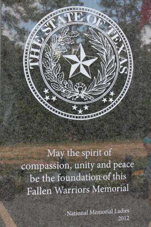 Texas Visit: Fallen Soldiers Memorial