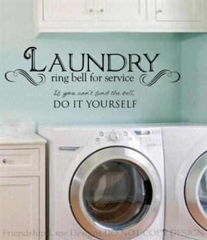 Details about LAUNDRY ROOM ring bell for service VINYL wall decal ...