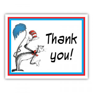 dr seuss note card matching thank you cards make a great addition to ...