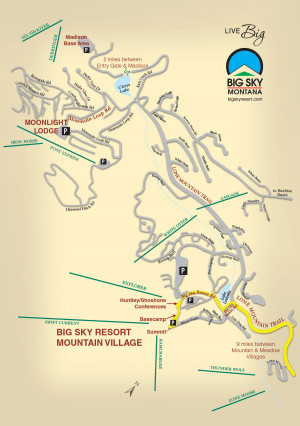 Big Sky Resort Map
